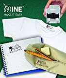 Mine Compact. The ideal self-inking stamp to personalize your clothes and books