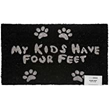 """Homescapes Felpudo Natural """"My Kids Have Your Feet"""""""