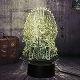 Eddard Stark Thron Ein Lied von Eis und Feuer Acryl 3D RGB LED Nachtlicht Schreibtischlampe Wohnkultur Weihnachtsgeschenk