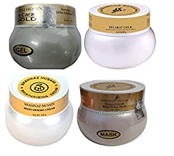 Shahnaz Husain Gold Plus Moisturising Cream 180g + Beautifying Mask 200g + Anti-Age Exfoliating Scrub 200g + Skin Radiance Gel 200g