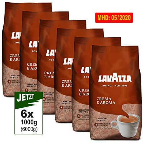 Lavazza Crema E Aroma Bohnen 6x 1000g (6000g) - Kaffee Italia