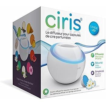 Devineau 1601704 Ciris Diffuseur  pour Capsule de Cire Parfumée avec Un Adaptateur et Capsule Monoï Blanc
