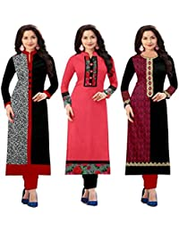 Platinum Pack Of 3 Combo kurti for women new design , latest style | low price under 500 1000 ; Fancy And Party Wear Printed Kurti New Designer Multi_Colored | latest design fashion kurti kurties( pack of 3 Combo kurti )