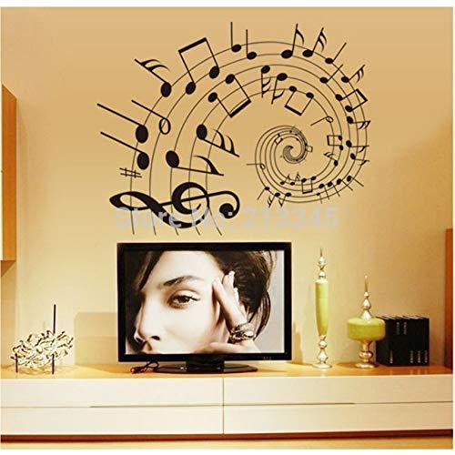 Cczxfcc Note Di Rivestimento Nero Aula Musica Camera Adesivi Murali Camera Da Letto Decalcomanie Arte Decorativa Smontabile In Pvc
