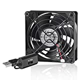ELUTENG Ventola 80 mm 3 velocità Fan USB Ventole per PC Case Cooling Cabinet Router PC PS4 PS3 Xbox Router Water Tank USB Cooler 8cm