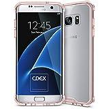 doupi PerfectFit AirClear Case pour Samsung Galaxy S7 Edge avec Crystal Clear coque arrière BackCase et Pare-chocs de protection cadre Cover, rose