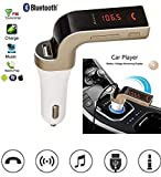 Totu Car G7 Bluetooth FM Transmitter with USB Flash Drives/TF Music Player Bluetooth Car Kit USB Car Charger Compatible for All Android & iOS Mobiles