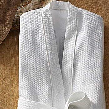 Sanjeev Textiles Unisex Cotton Bathrobe Waffle (White 534b4b069