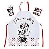 El regalo para los Walt Disney Minnie Mouse Fan: delantales de cocina Set con Minnie Mouse Mini Miny Delantal 65% poliéster/35% algodón
