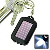 SODIAL Solarbetriebene LED-Taschenlampe Licht mit Schluesselanhaenger
