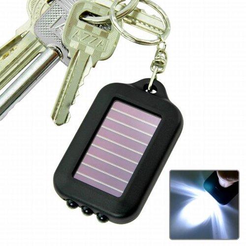 SODIAL(TM) Torcia ad energia solare a LED con portachiavi