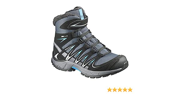 Salomon Jungen L37842800 Trekking & Wanderstiefel, grau