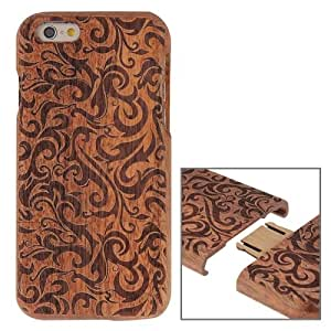 Crazy4Gadget Grass Pattern Separable Rosewood Wooden Case for iPhone 6 & 6s