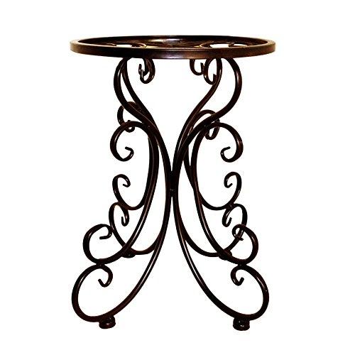 Metall Blumensäule Blumenständer, Multifunktionaler kreativer Blumentopf Rack, für Balkon Wohnzimmer Restaurant Hotel Büro Indoor Outdoor, Schwarz - Yves25Tate - Hotel Rack
