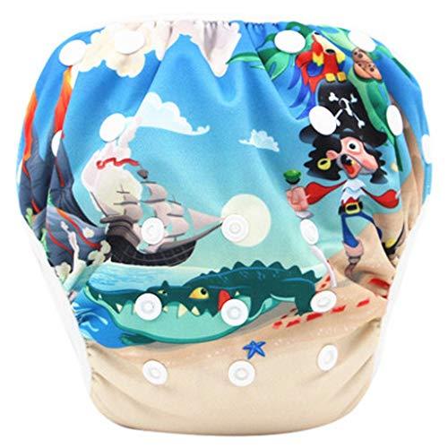 LABIUO Kinder Badehose,0-3 Jahre Kleinkind-Babywiederverwendbar Justierbar Badehose,für Baby-Schwimmen Lektion(J,0-3 Jahre altes Baby) -