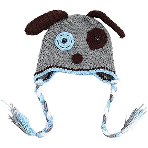 V-SOL Gorro Beanie Disfraz Perro Fotografía Para Bebé Recién Nacido Crochet