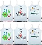 #7: BRANDONN FASHIONS Premium Quality Pure Cotton Cartoon Printed Kids Girls Vest Pack Of 6
