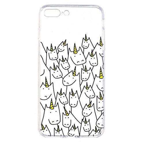 """Hülle für Apple iPhone 7 Plus , IJIA Transparente Einhorn TPU Weich Silikon Stoßkasten Cover Handyhülle Schutzhülle Handytasche Schale Case Tasche für Apple iPhone 7 Plus (5.5"""") (LF8) LF11"""