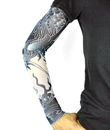 te W39 - Model 27 - Tattoo Sleeve - Tragbar - Ärmel - Fake Tattoo - Tatoo - Half Sleeve - Tribal ()
