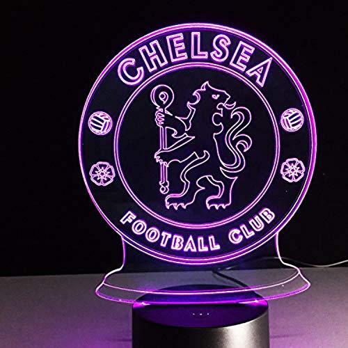 7 farbe led chelsea football club 3d lampe usb cool leuchtende basis dekoration tischlampe kinder schlafzimmer nachtlichter -