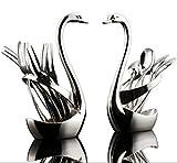 Reze aleación de Lujo Cisne Fruta Tenedor Tenedores para