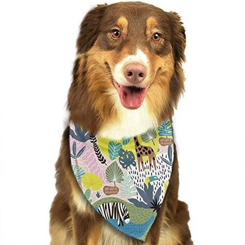 Hectwya Pet Bandanas Kreative Dschungel Kindisch Textur Einstellbare Halsbänder Pet Bandana Lätzchen Für Welpen Katzen - Giant Plaid Shirt
