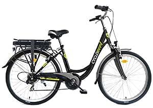 Cyclovert Cyclocity Vélo de ville à assistance électrique Noir 36V-8,8Ah