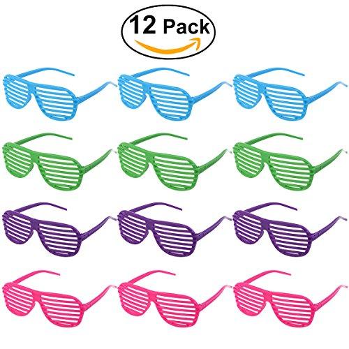 Preisvergleich Produktbild TINKSKY 12 Paare Shutter Shades Brille Sonnenbrille Party Requisiten (gemischte Farben)