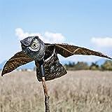 SEICOSY Bird Scarer Owl Bird Repellent - Scare Eye Owl - Horned Owl