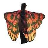 Style_Dress Ägypten Damen Butterfly Wings Frauen Weiches Gewebe Schmetterlingsflügel Für Bauchtanz Tanz Schleier Flügel Zubehör Tanzen Kostüm Bauchtanz Fasching Karneval (Kaffee)