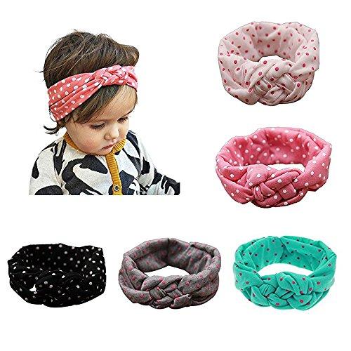 Enuo bebé turbante pelo niñas recién nacido diadema arco accesorios banda bonita...