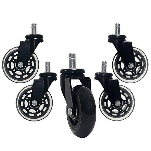 Signstek 5er Set Bürostuhlrollen Büro-Stuhl-Räder Caster Räder für Ihr Zuhause oder Büro-Möbel