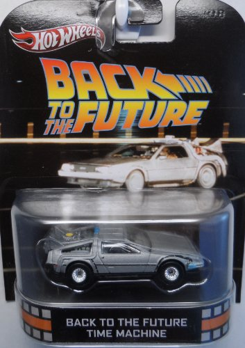 Back To The Future Time Machine DeLOREAN Hot Wheels Retro 1:64