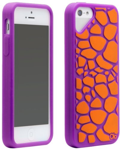 Olo Cloud Case für Apple iPhone 5–P Fashion- Giraffe Purple