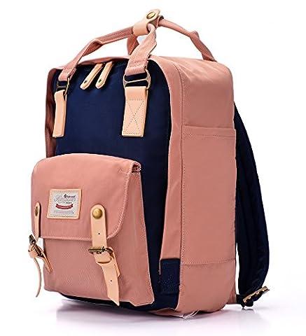 Nylon Rucksack Damen Teenager Große Schultasche Schulrucksack Mädchen College Laptop Bagpack für Outdoor Camping Picknick Sport