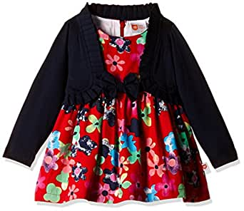 612 League Baby Girls' Dress (ILW00S720031C_Red_9-12 months)