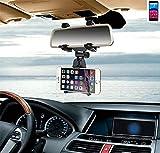 K-S-Trade per Archos Core 60S Supporto Smartphone specchietto retrovisore Titolare Monte Auto Universal Porta Telefono Staffa Culla Cruscotto Montaggio Holder per Archos Core 60S, Nero