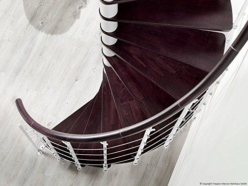 Profigold Spindle Stair Caparo White/120/140/160cm Diameter 305cm wenge Geschoß Height