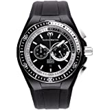 Technomarine Men's Quartz Watch with Black Dial Chronograph Display and Black Silicone Strap 110018