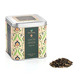 Octavius Loose Leaf Green Tea with Lemon & Ginger Flavour in Premium Tin Box 75 gm