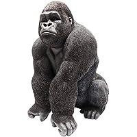 39x30x28 cm Kare Deko Affe Figur Monkey Gorilla Medium schwarz