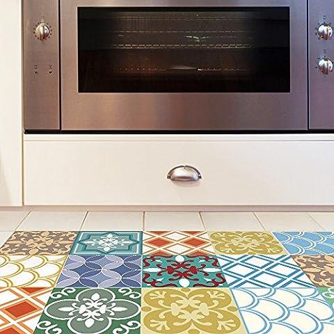 Decorative color 3D, imitation tiles, home decoration, kitchen study, anti-skid