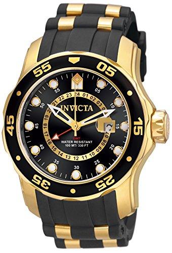 Invicta 6991 Pro Diver - Scuba Herren Uhr Edelstahl Quarz schwarzen Zifferblat (Uhren Für Ihr Invicta)