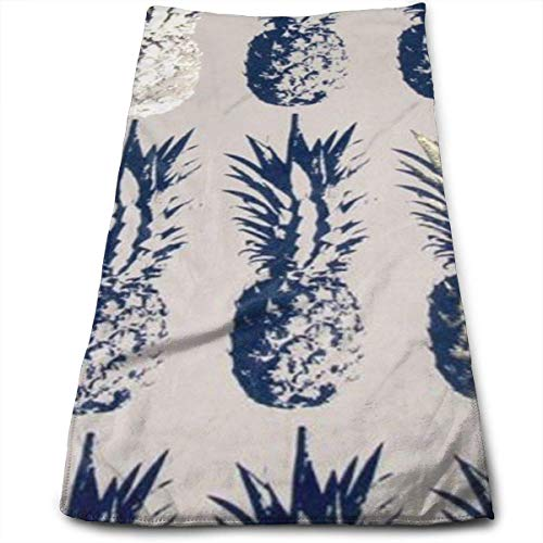 ewtretr Asciugamani Viso-Mani,Pineapples Mid Wallpaper Microfiber Beach Towel Large & Oversized - 11.8'X27.5' Towels, Best for Outdoor, Sports, Travels, Quick Drying And Super Absorbent Technology
