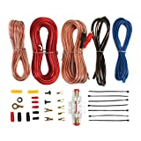 Audiopipe Apmi-1300 1000W Mono Amp 1 Ohm Stable Car Audio Amplifier + Wiring