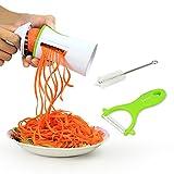 Productos Para Ninos Best Deals - Innoo Tech Cortador Verduras Espiralizador Rallador Verduras en Espiral Multifuncional en Cocina Para Ensalada Vegetal Fruta Patata Pepino Zanahoria Diseñp Ergonómico Seguro Incluidos Pelador de Cerámica y Cepillo de Limpieza