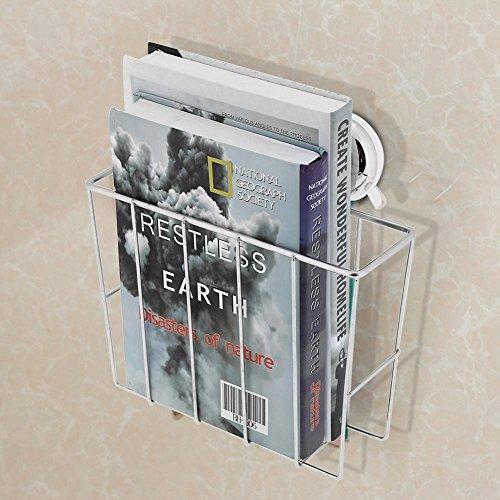 Zerone Wandhalterung Zeitung und Magazin Rack, Edelstahl Magazin Zeitung Halter Korb Wand montiert Post Aufbewahrung Rack für Badezimmer oder Home Office 23,5x 17,5x 8cm