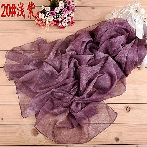 Tie-dye-seide-schal (JJHR Seide Schal Chiffon für Für Winter-Schal Einfarbig Tie Dye Lange Seidenschal Schal)