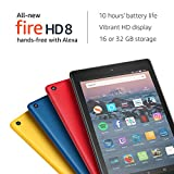 All-New Fire HD 8 Tablet with Alexa, 8 HD Display, 16 GB, Black - with Special Offers