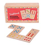 Bigjigs Toys Traditional Wooden Dominoes with Storage Box